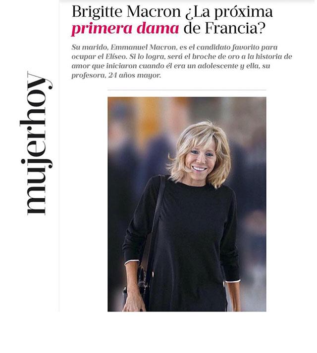 Brigitte Macron, superstar de la presse internationale