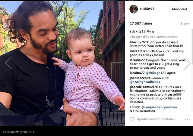 Joakim Noah publie une photo sa fille âgée de huit mois.
