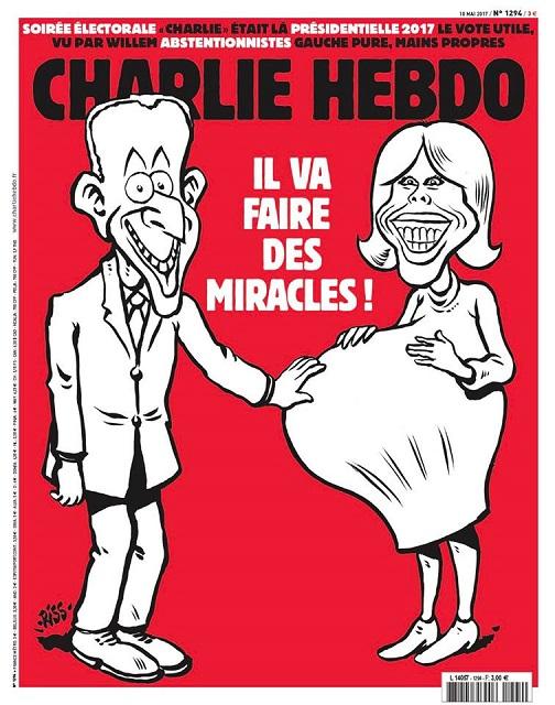 Brigitte Macron enceinte dans Charlie Hebdo: la une qui ne passe pas