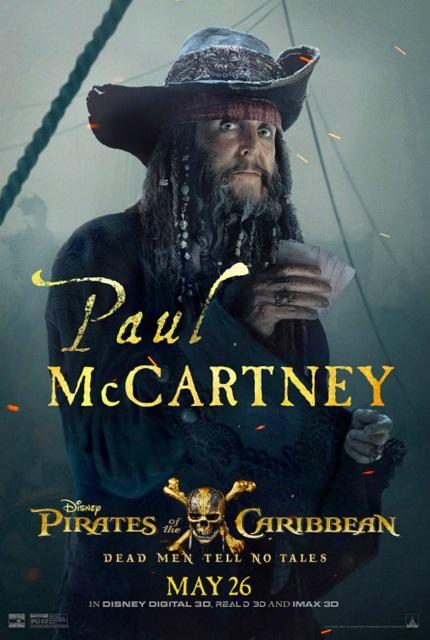 Paul McCartney méconnaissabledans Pirate des Caraïbes 5 !