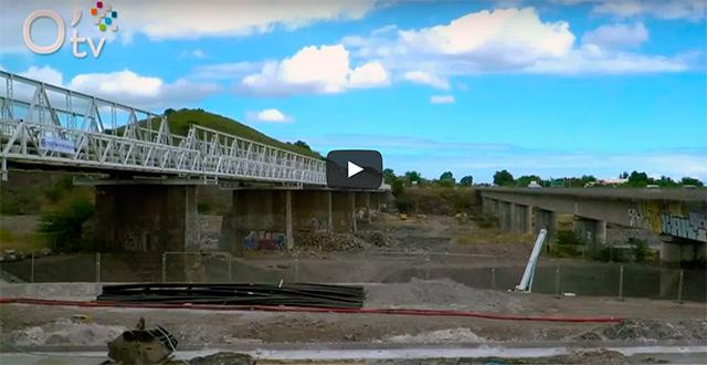 Nouveau pont de la rivière des Galets : les travaux ont commencé !