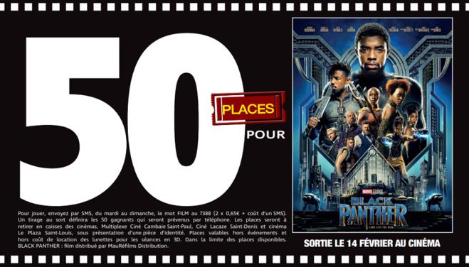 """50 places à gagner pour """"Black Panther"""" avec le réseau Mauréfilms"""
