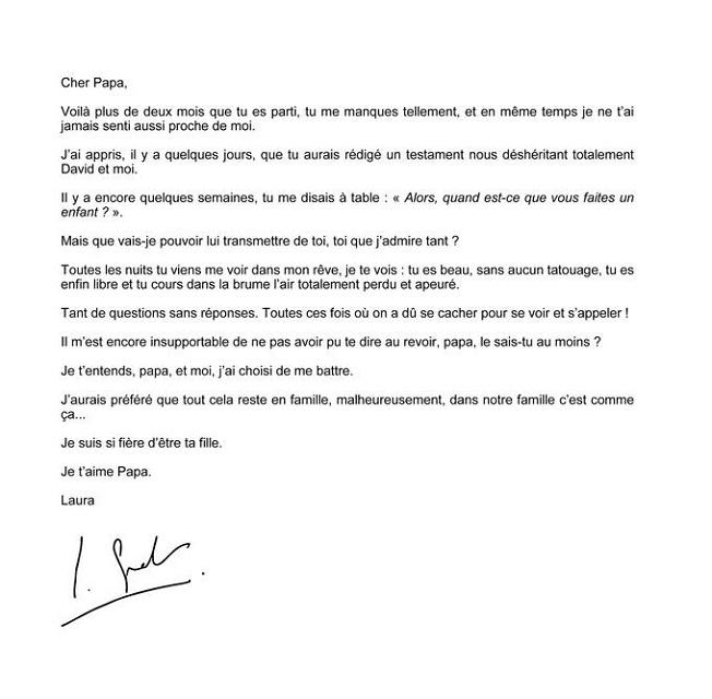 Testament de Johnny Hallyday : la lettre de Laura Smet à son père