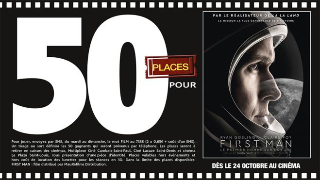 """Cinéma - 50 places à gagner pour """" First Man """" avec le réseau Mauréfilms"""