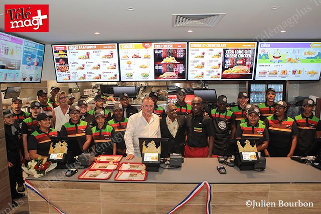 Burger king : Inauguration à Grand Fond