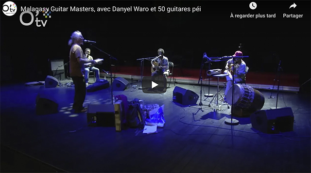Vidéo - Malagasy Guitar Masters, avec Danyel Waro et 50 guitares péi