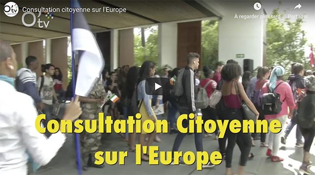 Vidéo - Consultation citoyenne sur l'Europe