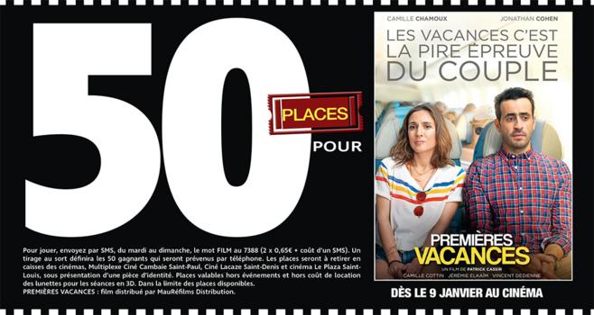 """Cinéma - 50 places à gagner pour """" PREMIERES VACANCES """" avec le réseau Mauréfilms"""