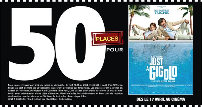 """Cinéma - 50 places à gagner pour """" JUST A GIGOLO """" avec le réseau Mauréfilms"""