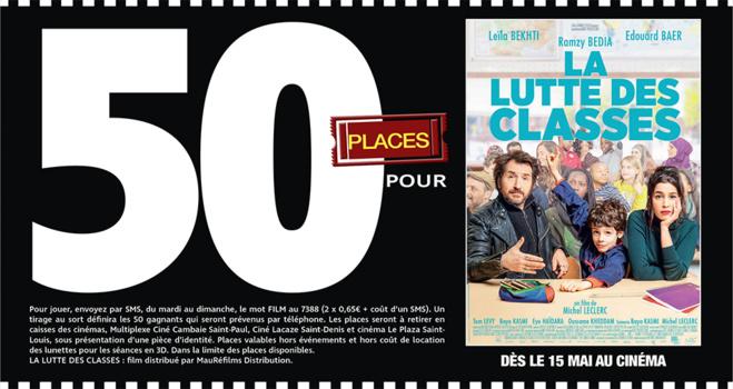 """Cinéma - 50 places à gagner pour """" LA LUTTE DES CLASSES """" avec le réseau Mauréfilms"""