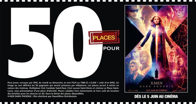 """Cinéma - 50 places à gagner pour """" X-MEN DARK PHOENIX """" avec le réseau Mauréfilms"""