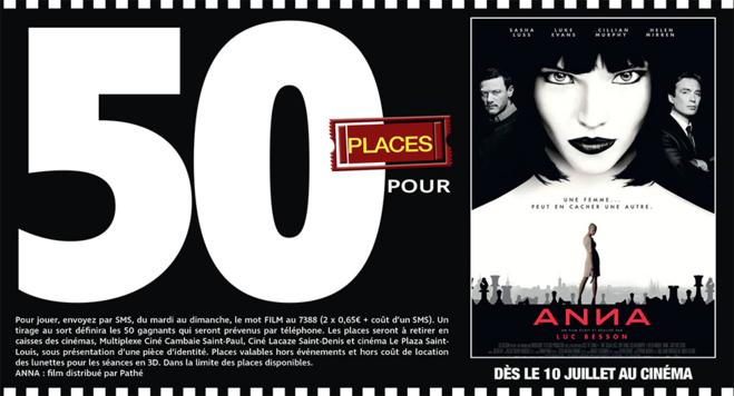 """Cinéma - 50 places à gagner pour """" ANNA """" avec le réseau Mauréfilms"""