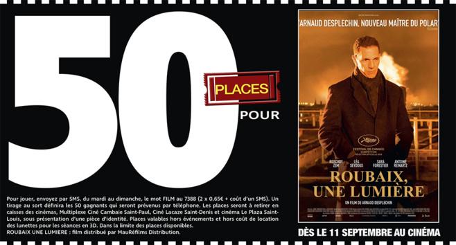 """Cinéma - 50 places à gagner pour """" ROUBAIX, UNE LUMIERE """" avec le réseau Mauréfilms"""