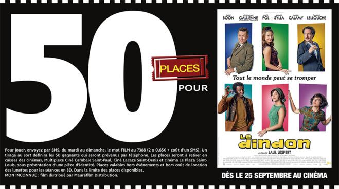 """Cinéma - 50 places à gagner pour """" LE DINDON """" avec le réseau Mauréfilms"""