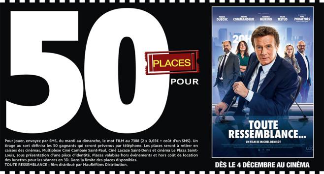 """Cinéma - 50 places à gagner pour """" TOUTE RESSEMBLANCE... """" avec le réseau Mauréfilms"""