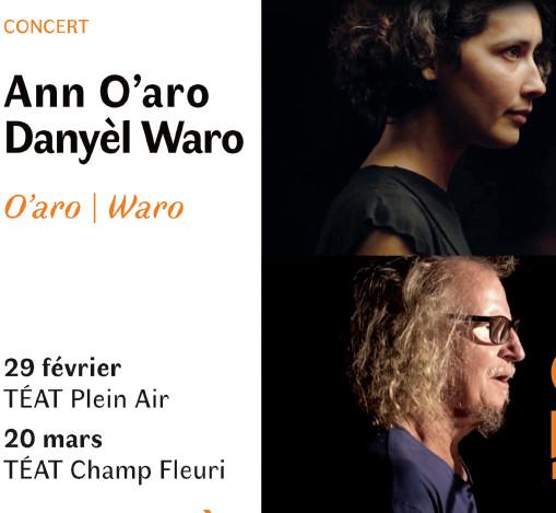 Ann et Danyèl Deux W'Aro sur scène