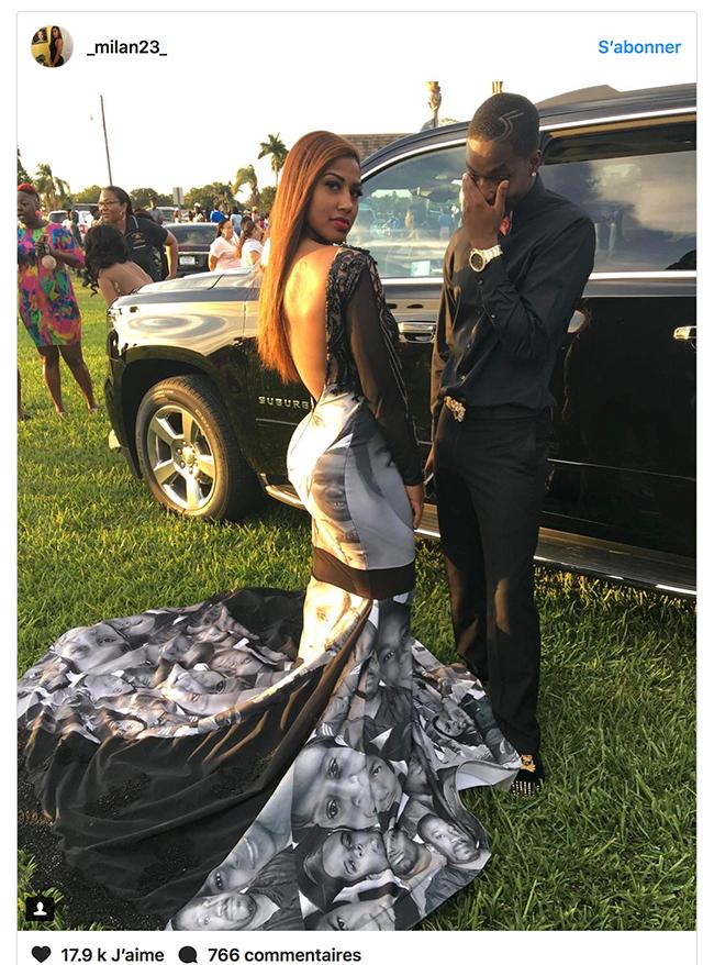 Sa robe de promo est devenue un phénomène aux Etats-Unis