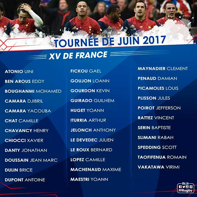 Arrivée et composition du XV de France à La Réunion