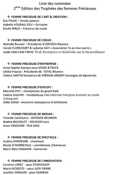 Les Trophées des Femmes Précieuses : 2e édition