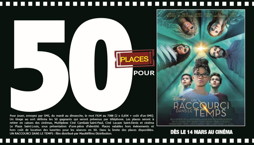"""50 places à gagner pour """" Un Raccourci dans le Temps """" avec le réseau Mauréfilms"""