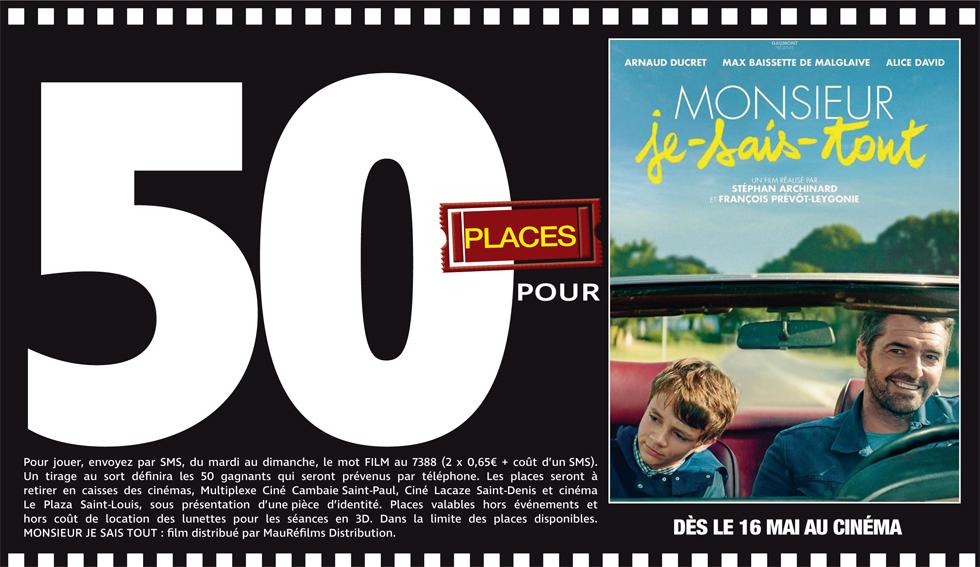 """Cinéma - 50 places à gagner pour """"Monsieur je sais tout"""" avec le réseau Mauréfilms"""