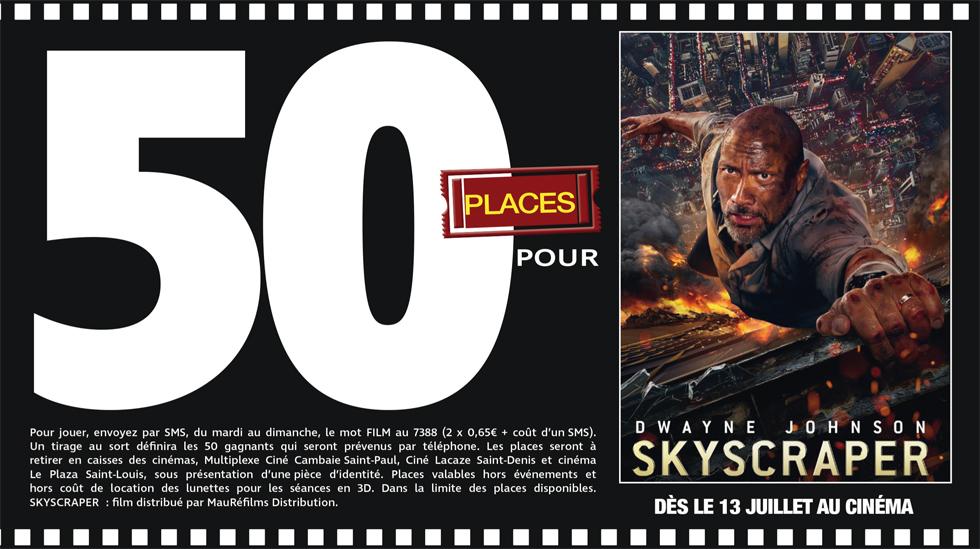 """Cinéma - 50 places à gagner pour """"Skyscraper"""" avec le réseau Mauréfilms"""