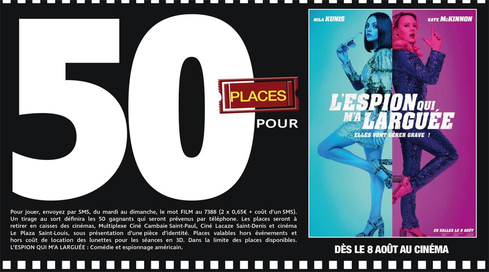 """Cinéma - 50 places à gagner pour """" L'espion qui m'a larguée """" avec le réseau Mauréfilms"""