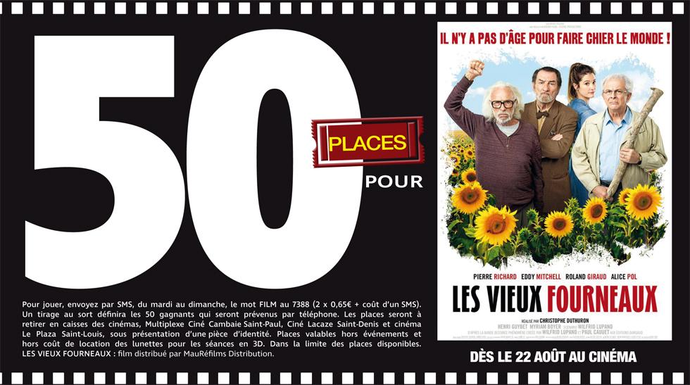"""Cinéma - 50 places à gagner pour """" Les vieux fourneaux """" avec le réseau Mauréfilms"""