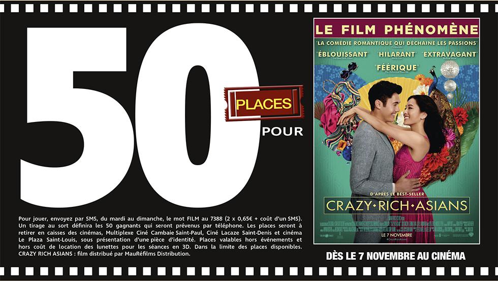 """Cinéma - 50 places à gagner pour """" Crazy Rich Asians """" avec le réseau Mauréfilms"""