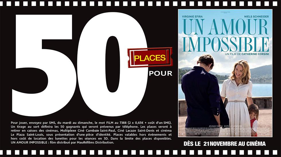 """Cinéma - 50 places à gagner pour """" Un Amour impossible """" avec le réseau Mauréfilms"""