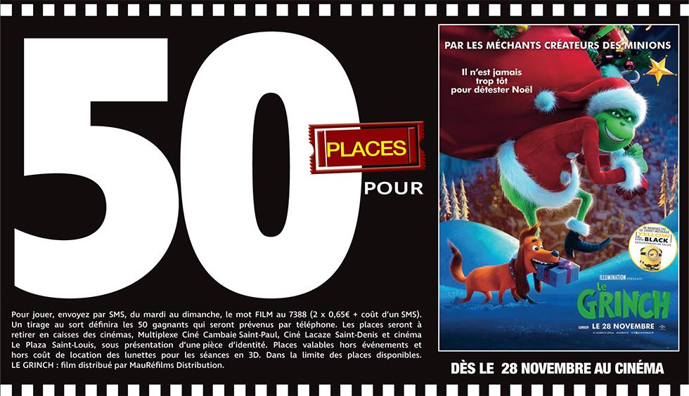 """Cinéma - 50 places à gagner pour """" LE GRINCH """" avec le réseau Mauréfilms"""