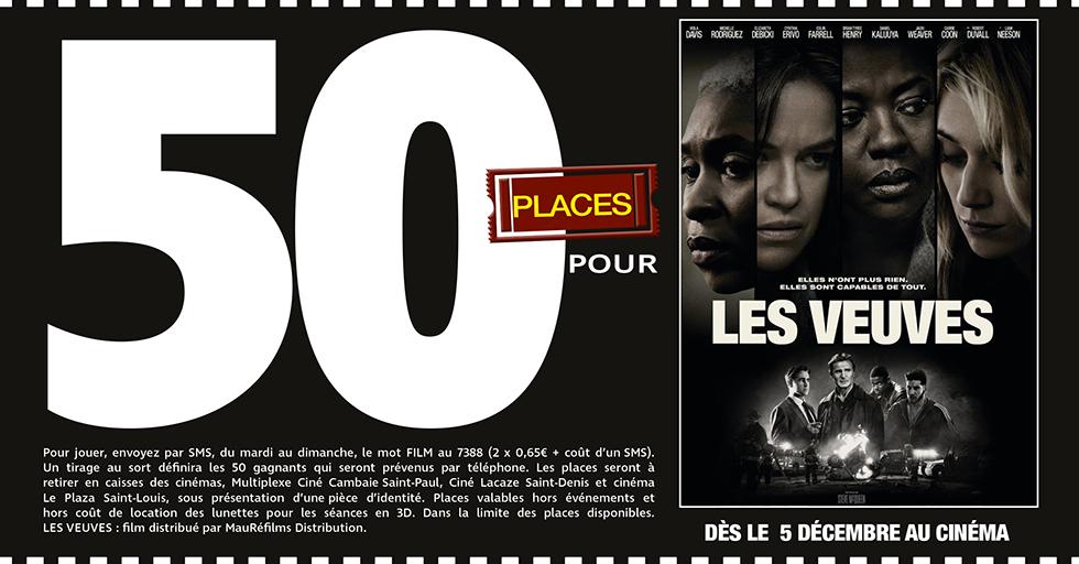 """Cinéma - 50 places à gagner pour """" LES VEUVES """" avec le réseau Mauréfilms"""