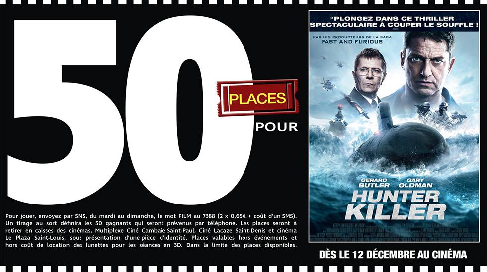 """Cinéma - 50 places à gagner pour """" HUNTER KILLER """" avec le réseau Mauréfilms"""