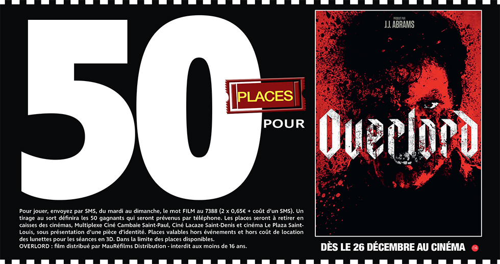 """Cinéma - 50 places à gagner pour """" OVERLORD """" avec le réseau Mauréfilms"""