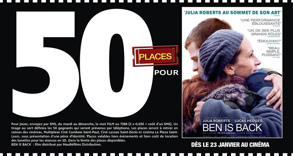 """Cinéma - 50 places à gagner pour """" BEN IS BACK """" avec le réseau Mauréfilms"""