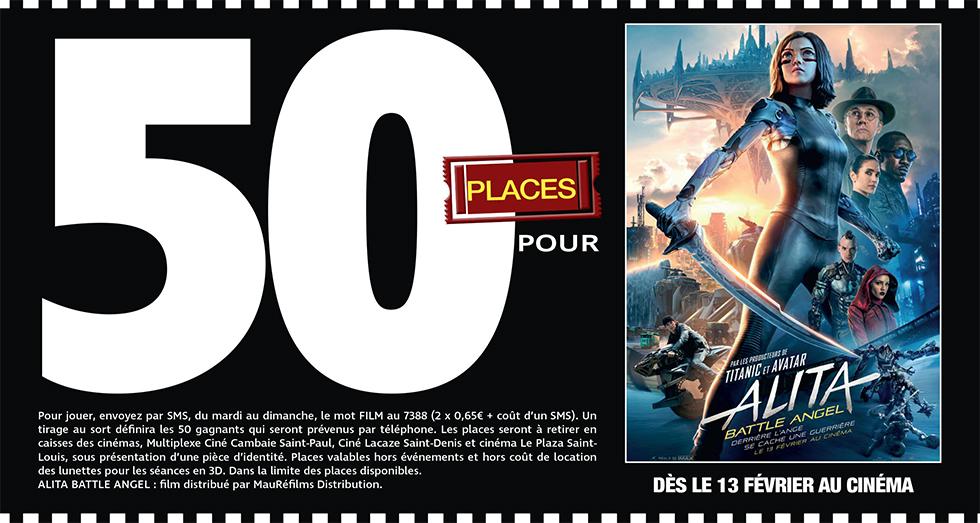 """Cinéma - 50 places à gagner pour """" ALITA BATTLE ANGEL """" avec le réseau Mauréfilms"""