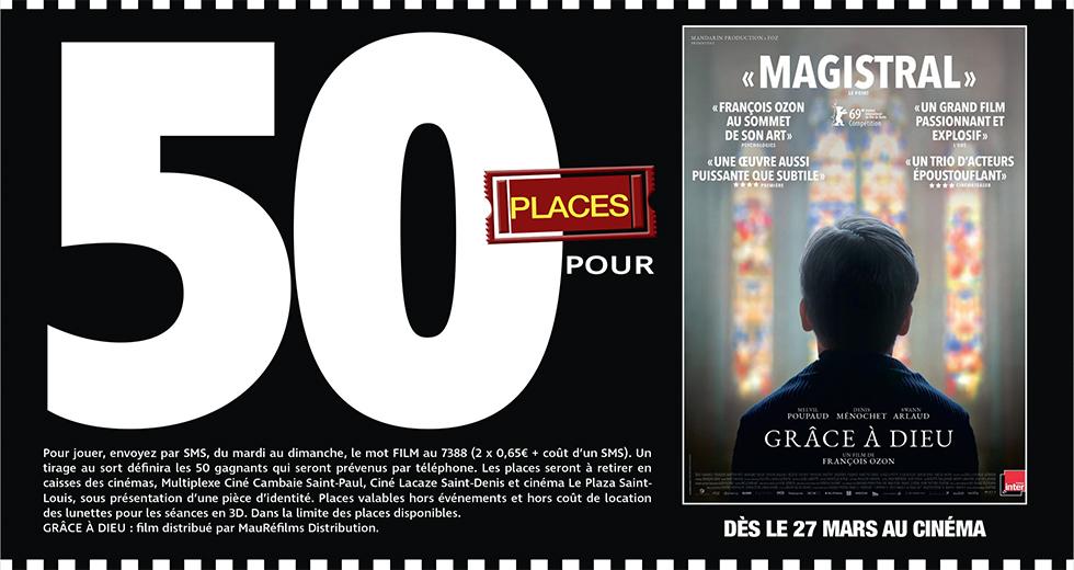 """Cinéma - 50 places à gagner pour """" GRÂCE A DIEU """" avec le réseau Mauréfilms"""