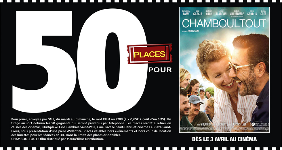 """Cinéma - 50 places à gagner pour """" CHAMBOULTOUT """" avec le réseau Mauréfilms"""
