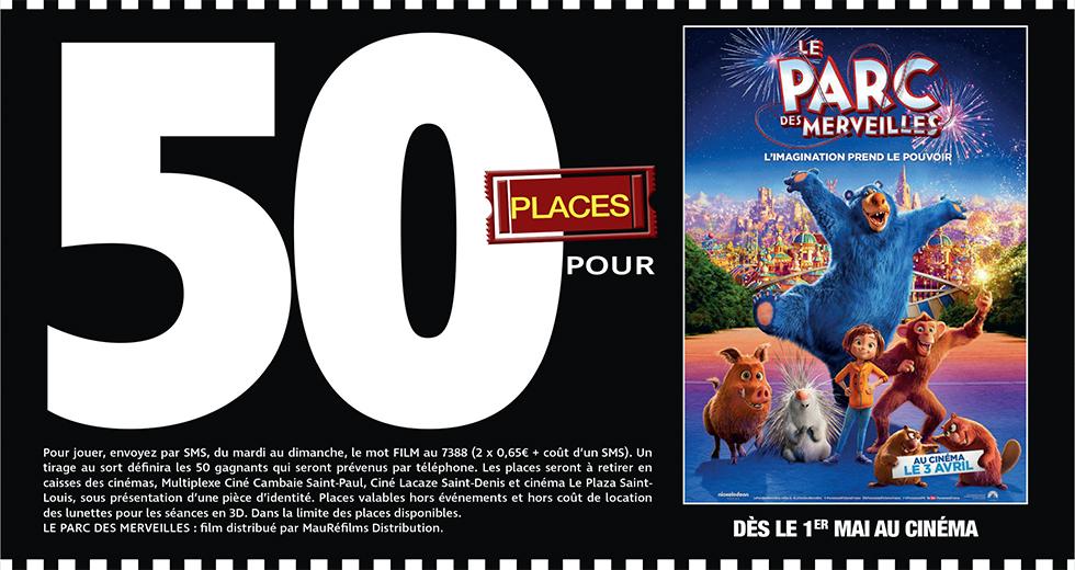 """Cinéma - 50 places à gagner pour """" LE PARC DES MERVEILLES """" avec le réseau Mauréfilms"""