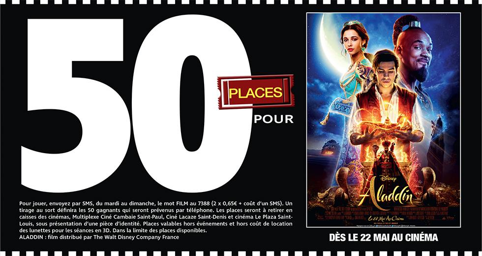 """Cinéma - 50 places à gagner pour """" ALADDIN """" avec le réseau Mauréfilms"""