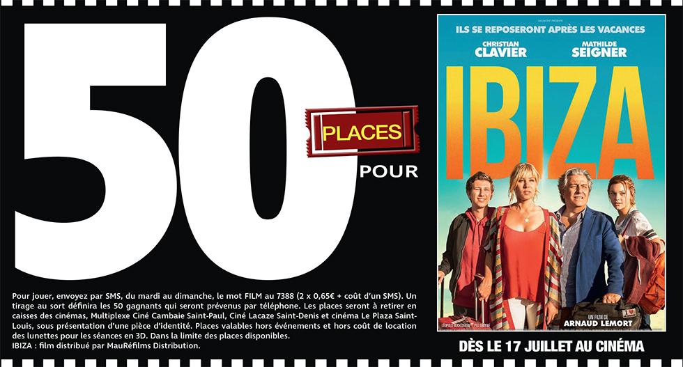 """Cinéma - 50 places à gagner pour """" IBIZA """" avec le réseau Mauréfilms"""