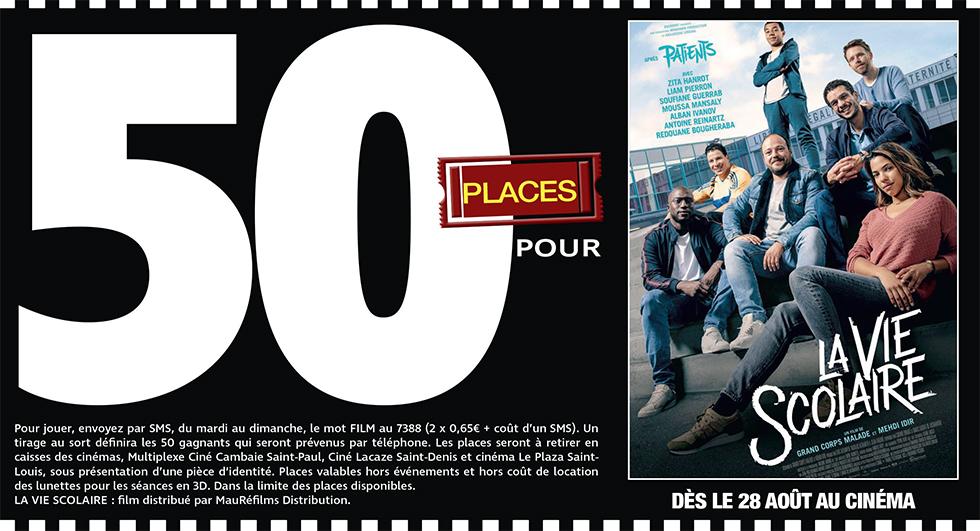 """Cinéma - 50 places à gagner pour """" LA VIE SCOLAIRE """" avec le réseau Mauréfilms"""