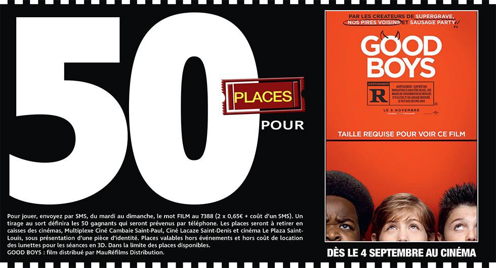 """Cinéma - 50 places à gagner pour """" GOOD BOYS """" avec le réseau Mauréfilms"""