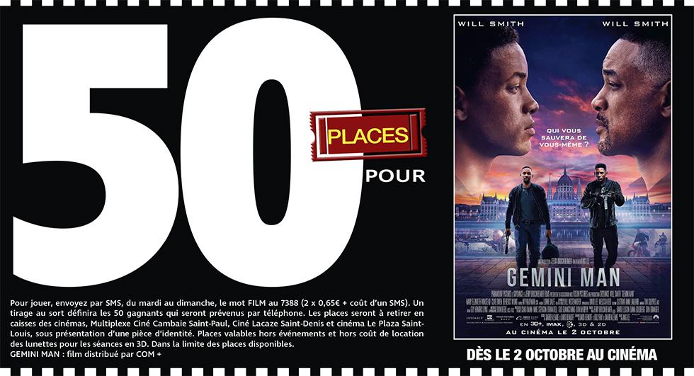 """Cinéma - 50 places à gagner pour """" GEMINI MAN """" avec le réseau Mauréfilms"""