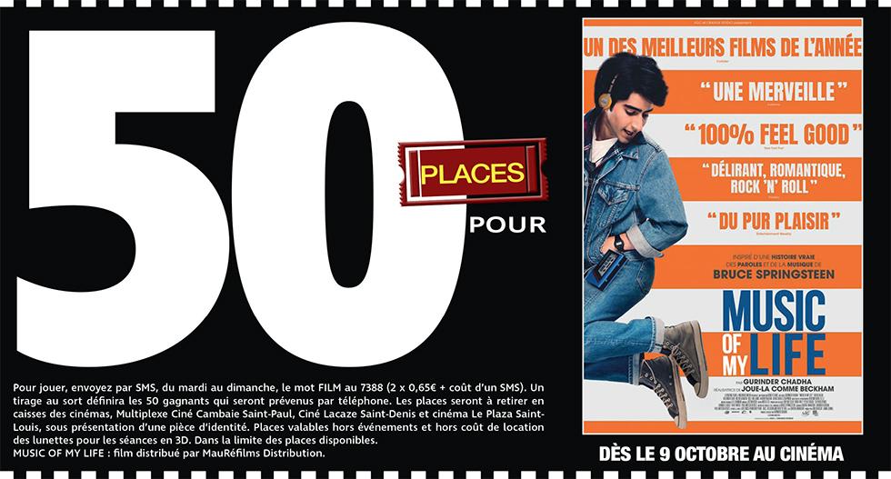 """Cinéma - 50 places à gagner pour """" MUSIC OF MY LIFE """" avec le réseau Mauréfilms"""