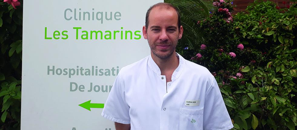 Favreau Kévin, Kinésithérapeute à la Clinique Les Tamarins