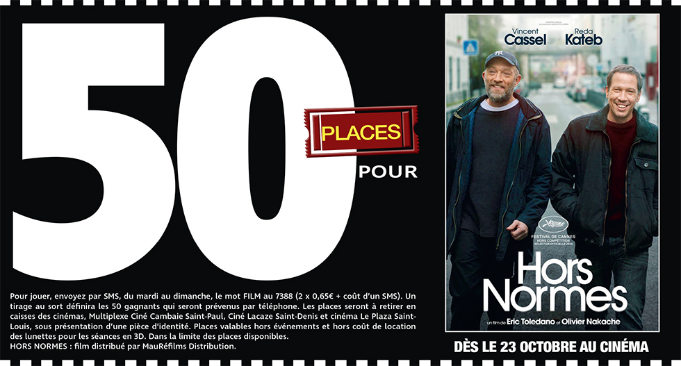 """Cinéma - 50 places à gagner pour """" HORS NORMES """" avec le réseau Mauréfilms"""