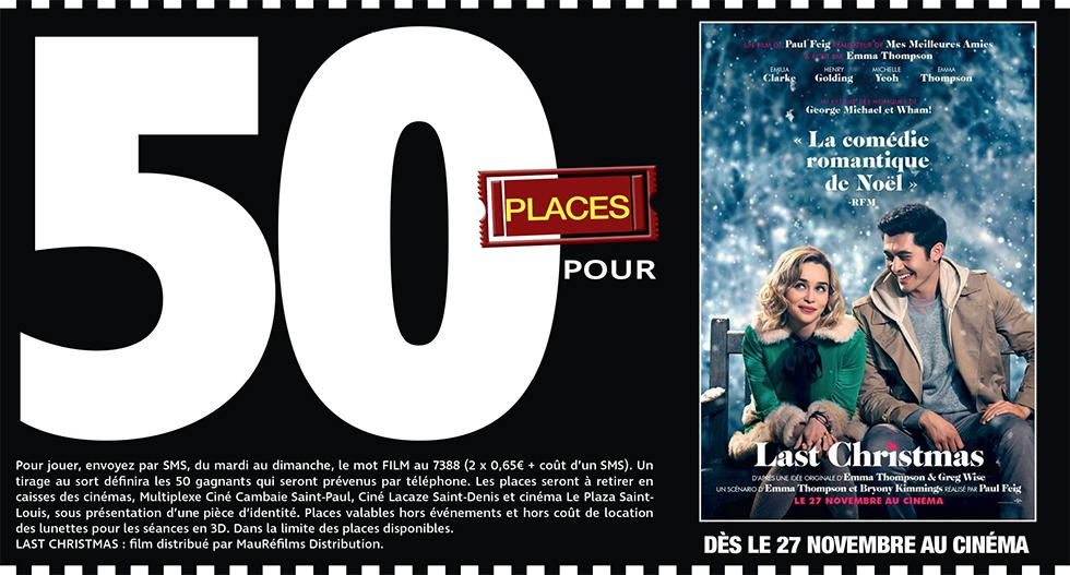 """Cinéma - 50 places à gagner pour """" LAST CHRISTMAS """" avec le réseau Mauréfilms"""