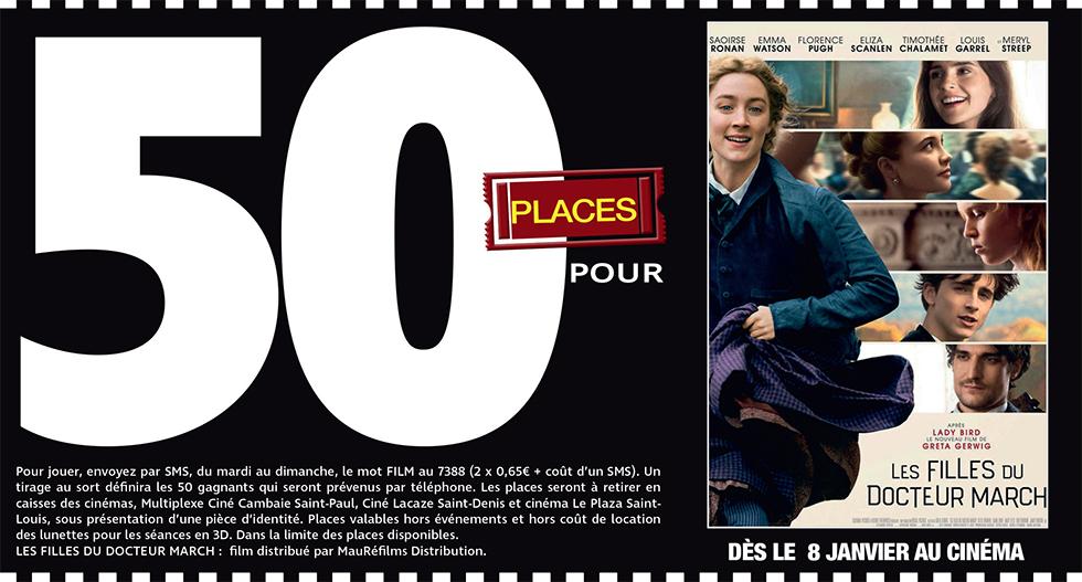"""Cinéma - 50 places à gagner pour """" LES FILLES DU DOCTEUR MARCH """" avec le réseau Mauréfilms"""