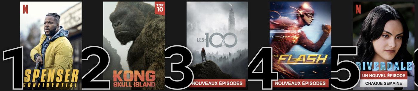 NETFLIX : Le Top 5 en ce moment à La Réunion